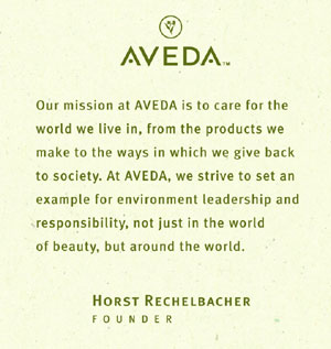 Aveda Hotel Bath Products